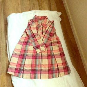 baby Gap plaid long sleeve girl dress